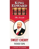 Cherry Wood Tip 5 Cigars - King Edward