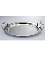 Oval Stainless Steel Tray - Home