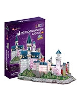 Neuschwanstein Castle 3D Puzzle 128 Pieces - Cubic Fun
