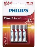 Power Alkaline Battery AAA LR03P4B - Philips