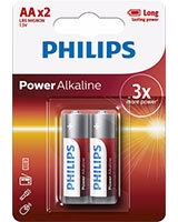 Power Alkaline Battery AA LR6P2B - Philips