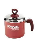 Lovely Hearts Milk Pot With Stainless Steel Lid - Nouval