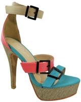 Heeled Sandal PinkXTurquoise 3548 - Mr.Joe