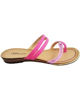 Flat Sandal BrownXPink 3626 - Mr.Joe