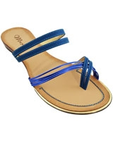 Flat Sandal BrownXBlue 3626 - Mr.Joe
