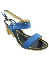 Heeled Sandal BlackXBlue 3642 - Mr.Joe