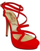 Heeled Sandal Red 3650 - Mr.Joe