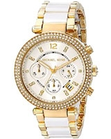Ladies' Watch Parker Pavé Gold-Tone Acetate MK6119 - Michael Kors