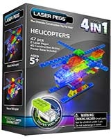 4 In 1 Helicopter - Laser Pegs