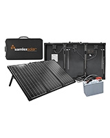 Portable Solar Charging Kit 135W/ 10AM SK-135 solar charge controller + Discover Battery - Samlex America
