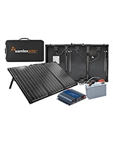 Portable Solar Charging Kit 135W/ 10A Solar Charge Controller MSK-135 + Samlex Inverter + Discover Battery - Samlex America