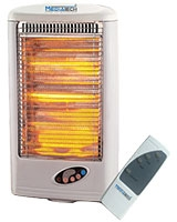 Halogen Heater 3 Tubes with Remote Control MT-H16R - Media Tech