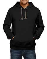 Plain Sweatshirt With Hoodie Black IB-H-M-P-001 - Ibrand