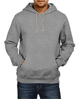 Plain Sweatshirt With Hoodie Gray IB-H-M-P-002 - Ibrand