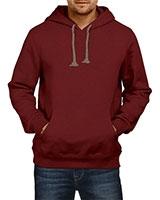 Plain Sweatshirt With Hoodie Maroon IB-H-M-P-003 - Ibrand