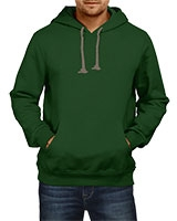 Plain Sweatshirt With Hoodie Dark Green IB-H-M-P-004 - Ibrand