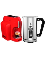 Mini Express Cf62 Rossa Espresso Maker 20 Bar + Milk Frother - Bialetti
