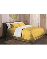 Fashion duvet cover 144 TC Misted yellow color - Comfort