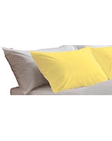 Fashion pillowcase 144 TC Misted yellow color - Comfort