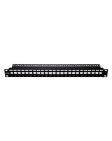 Unloaded UTP Keystone 24-Port Patch Panel NPP-AL1BLK241 - D-Link