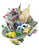 City Scape-New York 3D Puzzle 55 Pieces - Cubic Fun