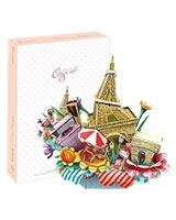 City Scape-Paris 3D Puzzle 74 Pieces - Cubic Fun