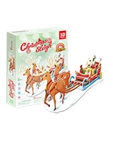 Christmas Sleigh 3D Puzzle 29 Pieces - Cubic Fun