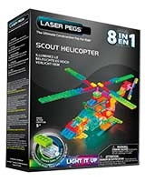 8 In 1 Scout Helicopter - Laser Pegs