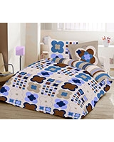 Printed fitted bed sheet Cegiar JOY design - Comfort