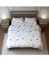 Printed Duvet Cover Natura Yang Design Blue - Comfort