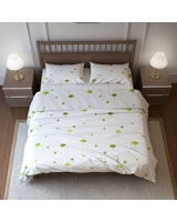 Printed Flat Bed Sheet Natura Yang Design Green - Comfort