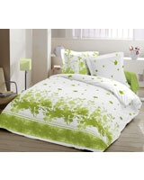 Printed Flat Bed Sheet Natura Yin Design Green - Comfort