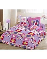 Printed flat bed sheet Sae Fog JOY design - Comfort