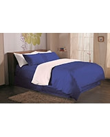 Fashion duvet cover 144 TC Royal blue color - Comfort