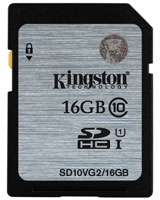 SDHC Class 10 UHS-I Card 16GB - Kingston