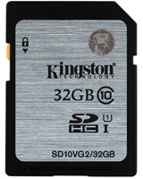 SDHC Class 10 UHS-I Card 32GB - Kingston