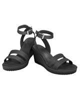 Leigh Wedge Black/Black - Crocs