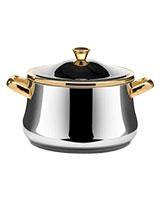 Stainless Steel Stewpot with Golden Handles - Zahran