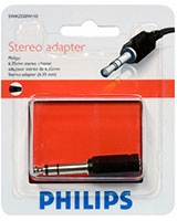 Stereo adapter 6.35 mm (M) - 3.5 mm (F) SWA2550W - Philips