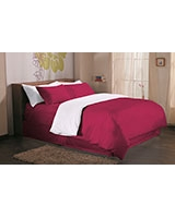 Fashion duvet cover 144 TC Sangria color - Comfort
