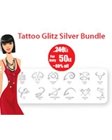 Tattoo Glitz Silver Bundle