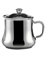 Stainless Steel Milk Pot With Stainless Steel Handle - Zahran