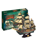 The Spanish Armada-San Felipe 3D Puzzle 248 Pieces - Cubic Fun