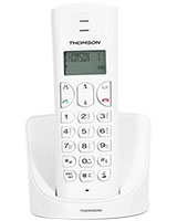 Amber Black Dect Phone White TH-103DWE - Thomson