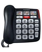 Safy Corded Phone TH-520FBLK - Thomson