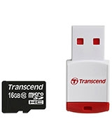 MicroSDHC Class 10 with P3 Card Reader 16GB - Transcend