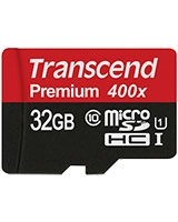 MicroSDHC Class 10 UHS-I 400x 32GB - Transcend