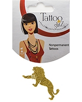 Glitter Tattoo Gold Color Lion