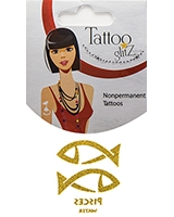 Glitter Tattoo Gold Color Zodiac/Sagittarius