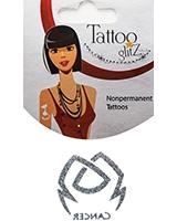 Glitter Tattoo Silver Zodiac/Cancer